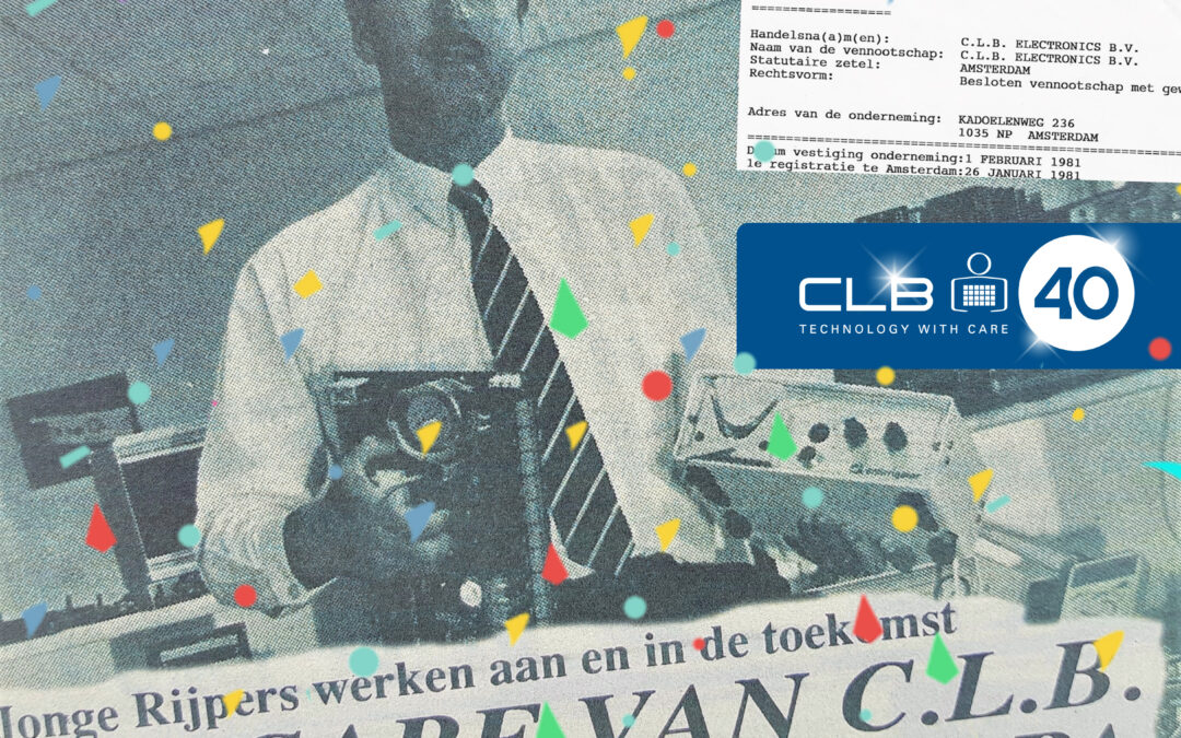 De CLB Groep bestaat 40 jaar!