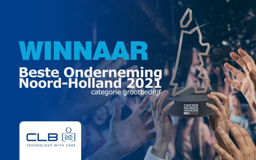 CLB Groep wint juryprijs voor Beste Onderneming van Noord-Holland 2021 in de categorie grootbedrijf